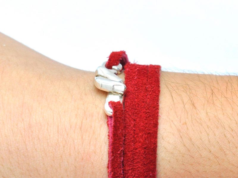 Pulsera del hilo rojo del destino con cordón rojo