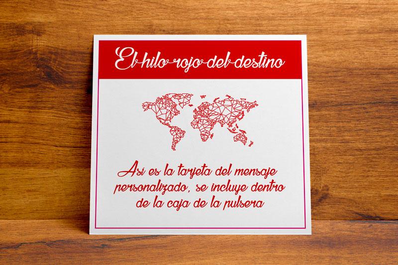 1 tarjeta con mensaje personalizado